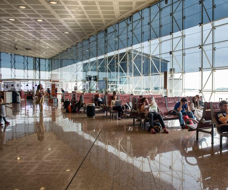 Flugverspätung am Flughafen Barcelona El Prat
